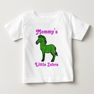 Green Zebra with Black Stripes Baby T-Shirt