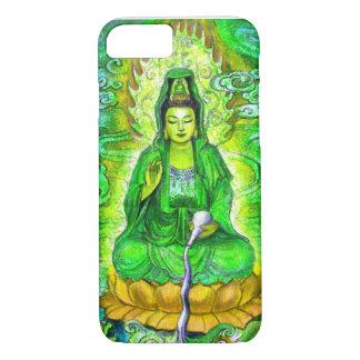 Green Zen Buddhist Goddess Kuan Yin iPhone 7 case