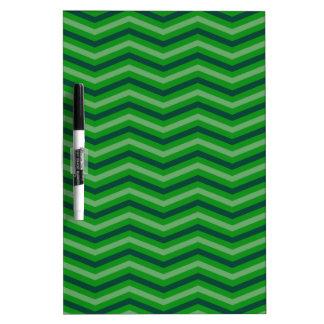 Green Zig Zag Dry-Erase Whiteboard