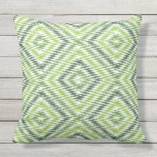 Green Zig Zag Outdoor Pillow