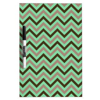 Green Zig Zag Pattern Dry-Erase Board