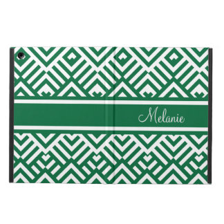 Green zig zag pattern with name case for iPad air