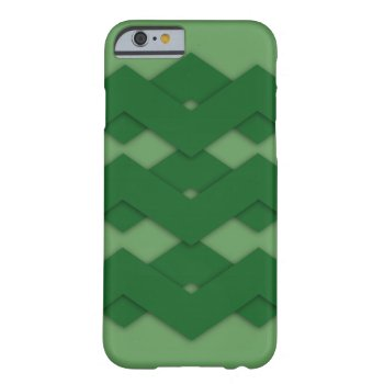 Green Zigzag Barely There iPhone 6 Case