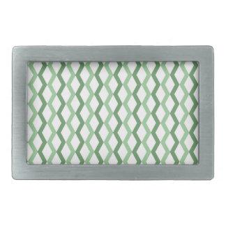 Green Zigzag Lines Belt Buckles