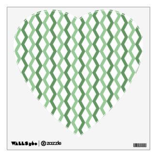 Green Zigzag Lines Wall Sticker