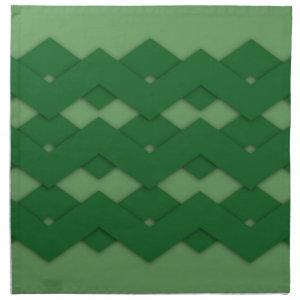 Green Zigzag Napkins
