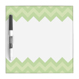 Green ZigZag pattern Dry Erase Boards