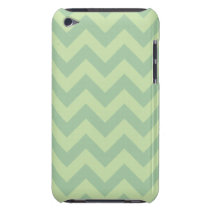 Green ZigZag pattern iPod Touch Case