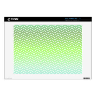 Green zigzag pattern skin for acer chromebook