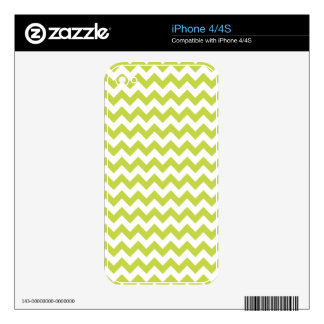 Green Zigzag Stripes Chevron Pattern Decal For The iPhone 4S