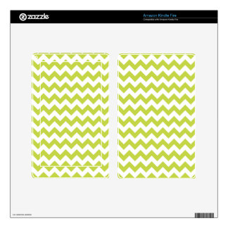 Green Zigzag Stripes Chevron Pattern Kindle Fire Skins