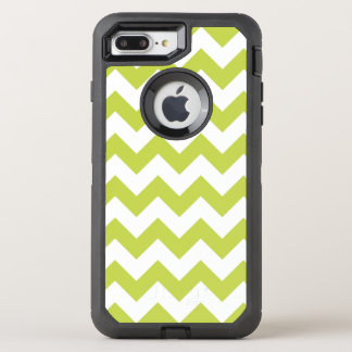Green Zigzag Stripes Chevron Pattern OtterBox Defender iPhone 7 Plus Case