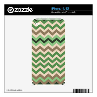 Green Zigzags With Black Skin For The iPhone 4S