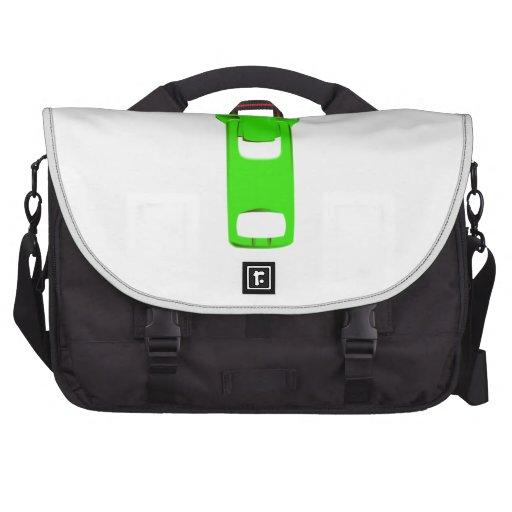 Green Zipper Commuter Bags