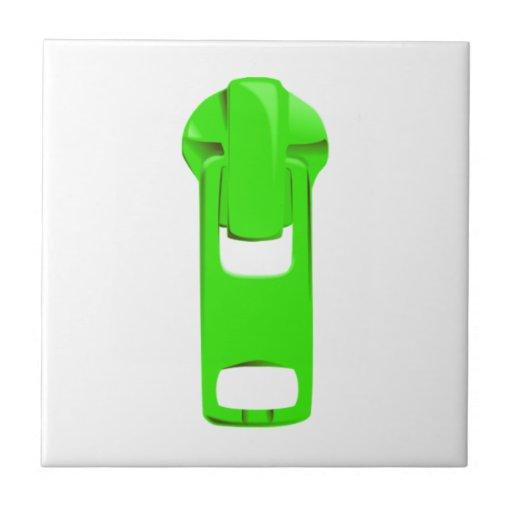 Green Zipper Tiles