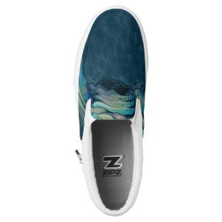 Green Zipz Slip On Shoes, US Men 4 / US Women 6