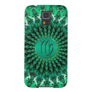 Green Zodiac Sign Virgo Fractal Mandala Case For Galaxy S5