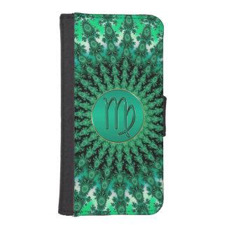 Green Zodiac Sign Virgo Fractal Mandala iPhone SE/5/5s Wallet