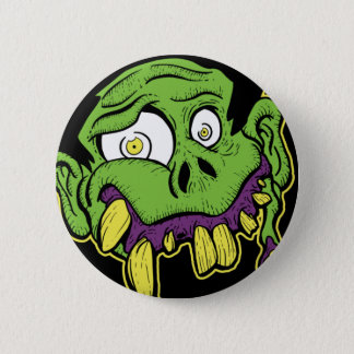 Green Zombie Head Button
