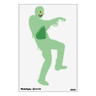 Green Zombie Monster Guy Wall Decal