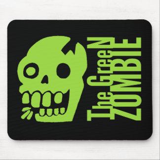 Green zombie mouse pad