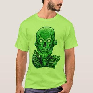 Green Zombie Skull Head T-Shirt