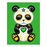 Green Zombie Sugar Panda 4.25x5.5 Paper Invitation Card
