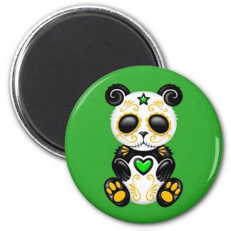 Green Zombie Sugar Panda Magnets