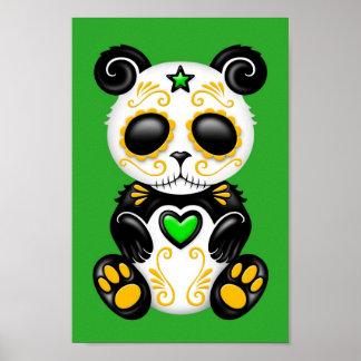 Green Zombie Sugar Panda Poster