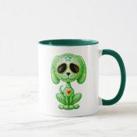 Green Zombie Sugar Puppy Mug