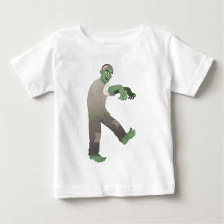 Green Zombie Walking Slowly with Arms Out in Front Baby T-Shirt