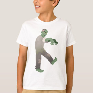 Green Zombie Walking Slowly with Arms Out in Front T-Shirt