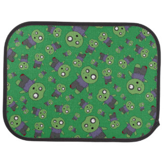 Green zombies car mat