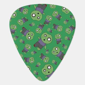 Green zombies guitar pick