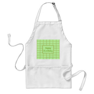 GREEN Zone : EDITABLE Greeting Text Adult Apron