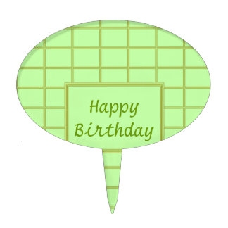 GREEN Zone : EDITABLE Greeting Text Cake Topper