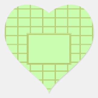 GREEN Zone : EDITABLE Greeting Text Heart Sticker
