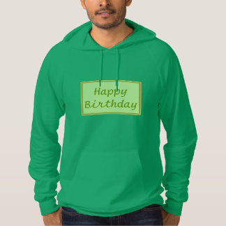GREEN Zone : EDITABLE Greeting Text Hooded Pullover