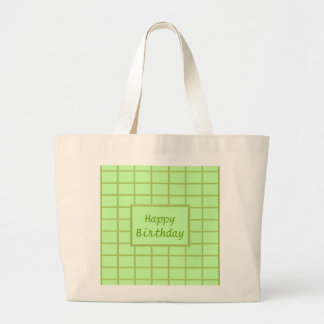 GREEN Zone : EDITABLE Greeting Text Large Tote Bag