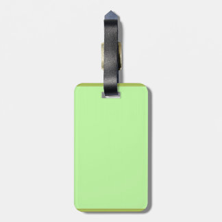 GREEN Zone : EDITABLE Greeting Text Luggage Tag