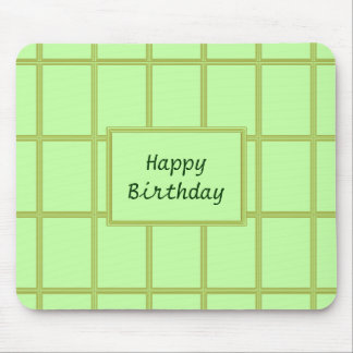 GREEN Zone : EDITABLE Greeting Text Mouse Pad