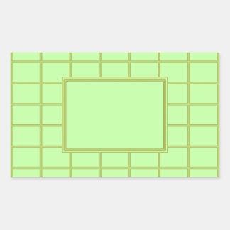 GREEN Zone : EDITABLE Greeting Text Rectangular Sticker