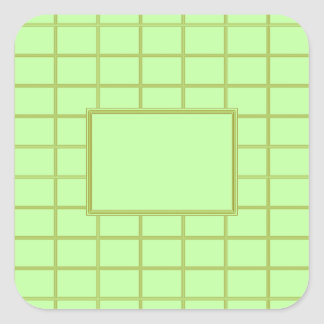 GREEN Zone : EDITABLE Greeting Text Square Sticker