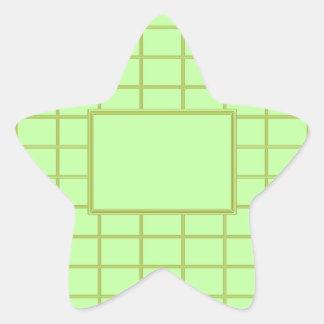 GREEN Zone : EDITABLE Greeting Text Star Sticker