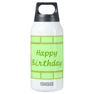 GREEN Zone : EDITABLE Greeting Text Thermos Water Bottle