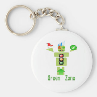 GREEN Zone Energy Efficient Only Basic Round Button Keychain