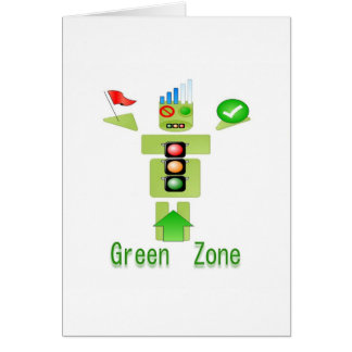 GREEN Zone Energy Efficient Only Greeting Card