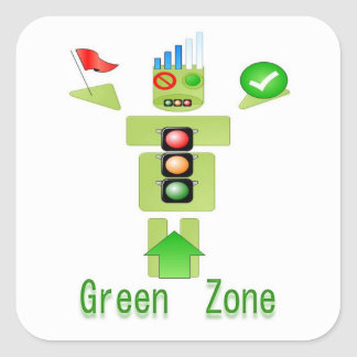 GREEN Zone Energy Efficient Only Square Sticker