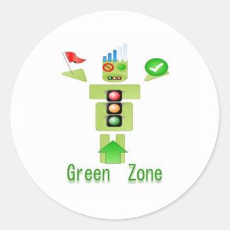 GREEN Zone Energy Efficient Only Round Sticker