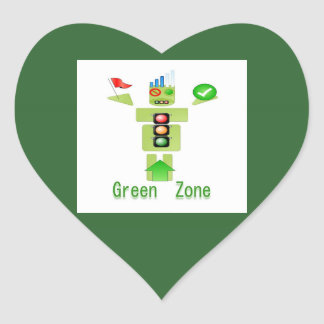 GREEN Zone Heart Sticker
